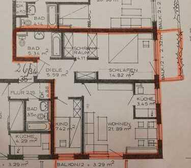 gepflegte 2,5-Zimmer-Wohnung, sehr gut geschnitten, 2 Balkone in Au, München