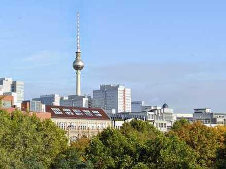 Atemberaubender Fernsehturm-Blick! Urban Living in Mitte: Traumhafte 2-Zi.-Whg. über dem Luisenpark