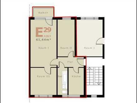 Ruhige und gut geschnittene Wohnung mit Balkon in einer freundliche Wohnanlage