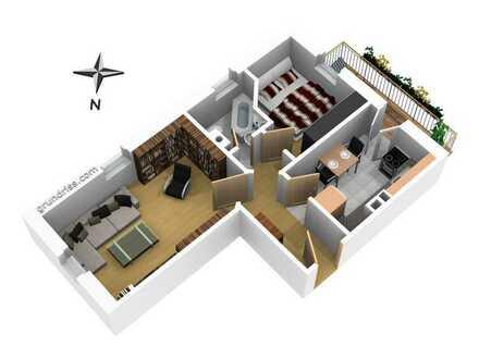 Schöne Zweiraumwohnung zu verkaufen