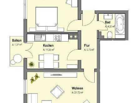 Schöne, geräumige zwei Zimmer Wohnung in Karlsruhe, Südstadt /Bahnhofsnähe, WG geeignet