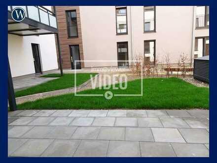 Bezugsfertige Terrassenwohnung im Neubau!! 3 Zimmer, moderne Ausstattung, Einbauküche, Gäste-WC