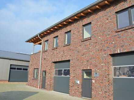 Neubau-Gewerbeobjekt mit Lagerhalle im EG und einer Betriebswohnung im OG in Rastede/nahe Oldenburg