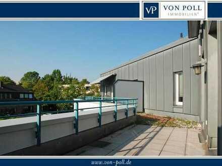 Attraktive Dachgeschoss-Wohnung mit großer Terrasse in Südpark-Nähe