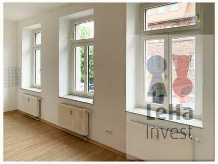 vermietete 1-Raum-Wohnung mit offener Küche in Leipzig Schleußig   neue EBK   neuer Fußboden