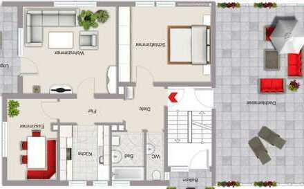 möblierte 3-Zimmer-Wohnung mit Balkon und Einbauküche in Künzell-Bachrain