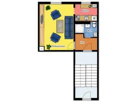 Sanierte 1-Raum-Wohnung für Singles