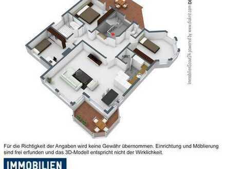 Exklusive, helle,vollständig renovierte 4-Zimmer-Wohnung mit Wintergarten und Einbauküche