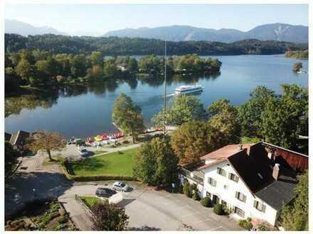 Seltene Gelegenheit, Traditionsgastronomie in einmaliger Lage (1.260 m²), direkt am Staffelsee !