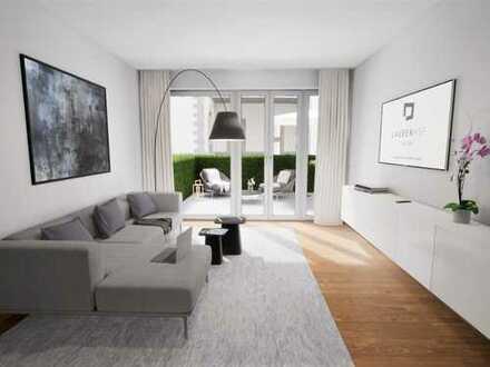 LAUBENHOF - Ihr neues Zuhause: 2-Zimmer-Neubauwohnung mit großer Süd-Terrasse in begehrter Lage