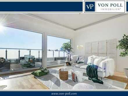 Lichtdurchflutet & exklusiv! Traumhaft schöne Penthousewohnung mit großer Dachterrasse