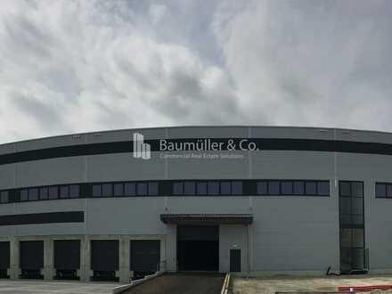 """""""BAUMÜLLER & CO."""" ca. 7.000 m² Hallen-/ Produktionsfläche mit Rampenandienung"""
