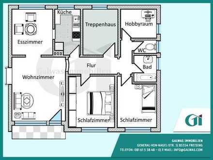 GI** Große 4,5-Zi.-Wohnung in Oberappersdorf sucht ruhigen Mieter