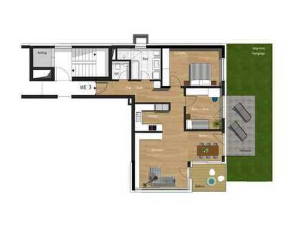 3,5-Zimmer-Wohnung inkl. TG, Außenstellplatz & Gartenanteil
