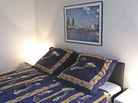 Komplett möblierte 3 Zimmer Wohnung ( 1 Durchgangszimmer ) mit Kaminofen/ Balkon/ ab 01.3.2020 frei