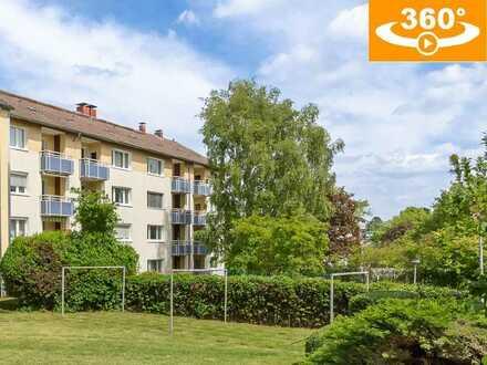 Bezugsfrei, mit Südbalkon und Pkw-Stellplatz: gut geschnittene 3-Zi.-Whg. (72 m²) in Eschersheim