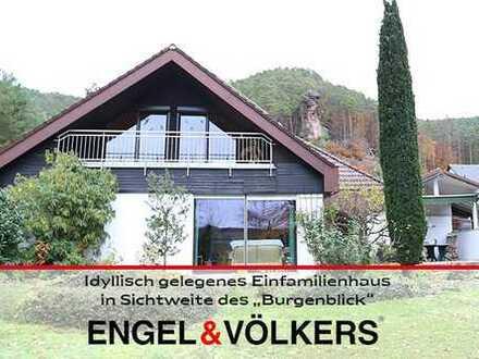 """Idyllisch gelegenes Einfamilienhaus in Sichtweite des """"Burgenblick"""""""