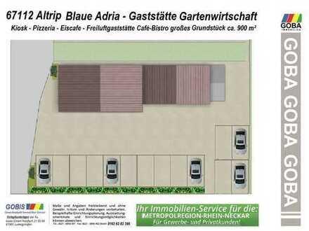Ab Saison 2019 pachten/kaufen: Altrip`Blaue Adria`CafeBistro/Gaststätte u.a. brauereifrei/autom.frei