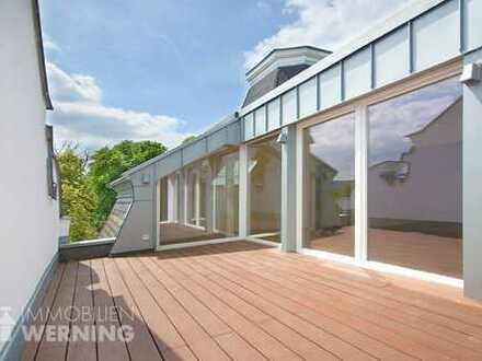 Villa Rolandseck: Penthouse-Maisonettewohnung! Terrasse, Turmzimmer, Rheinblick, 5 Min. bis Mehlem