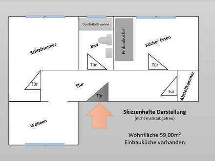 Gepflegte 2-Zimmer-Wohnung mit Einbauküche in Karlsruhe Wolfartsweier