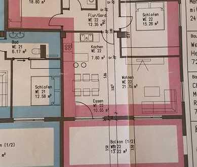 Neuwertige 3-Raum-Wohnung mit Balkon und Einbauküche in Rangendingen