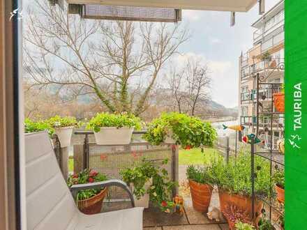 +++Gepflegte Kapitalanlage mit Balkon und TG-Stellplatz direkt am Neckar+++