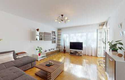 Praktisch geschnittene 4 Zimmer Wohnung mit Garten und Garage