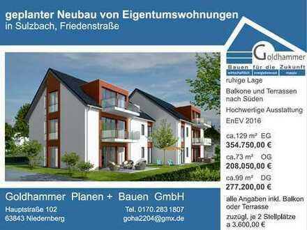 Erstbezug: ansprechende 4-Zimmer-Wohnung mit Terrasse in Sulzbach am Main