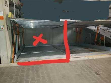 TG-Stellplatz, ein Stellplatz auf Doppelparker G 32 mit Doppelbühne
