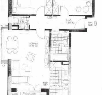 Freundliche 3-Zimmer-Wohnung mit Balkon in Aichach