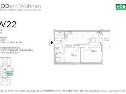 Morgensonne auf dem Balkon • 3 Zimmer • 72 m² • offene Küche mit großem Wohn-/Essbereich