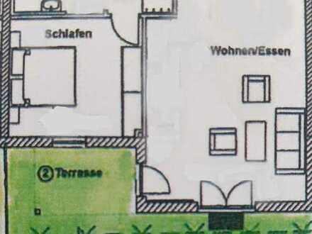 Gehobene 2-Zimmer-Erdgeschosswohnung mit Terrasse in 87439, Kempten (Heiligkreuz).