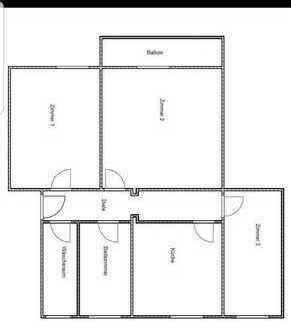 Neu modernisiert 3-Zimmer-Wohnung mit Balkon und 2 Bädern sowie Dusche und Wanne in einem großen Bad