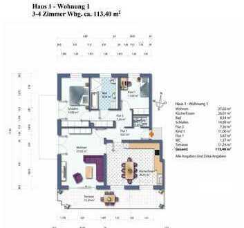 Haus 1 Whg. 1 Erdgeschoss Wohnung