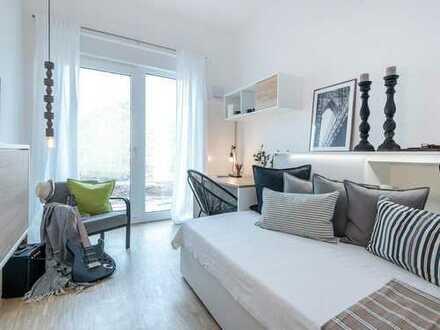 Junges Wohnen in idealer Lage - Möblierte 2-Zimmer-Wohnung mit Terrasse - WG-geeignet