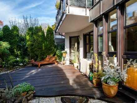 Exclusive Wohnung mit traumhaften Garten in Top-Lage an der Menterschwaige