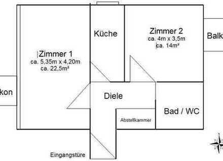 """Renovierte 2-Zimmer-Wohnung in """"Am Hart"""", München"""
