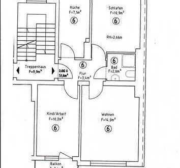 Südstadt: 3-Zimmer-Wohnung mit Balkon in der Seilerstr.