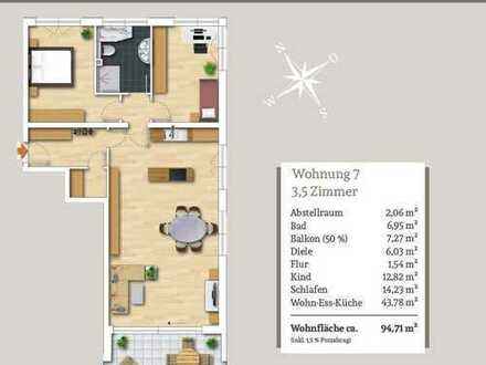 Wohnen mit Weitblick - Moderne 3,5-Zi.-Dachgeschosswohnung