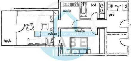 Im Zentrum gelegene 1,5 Raumwohnung mit Balkon