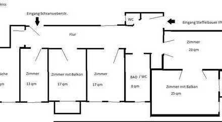 Große 5-Zimmer-Wohnung mit zwei Balkonen, Oberschöneweide (Köpenick), Berlin sucht einen Nachmieter
