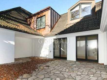 Charmante Remise-3 Zimmer mit eigenem Eingang, Kamin und Innenhof