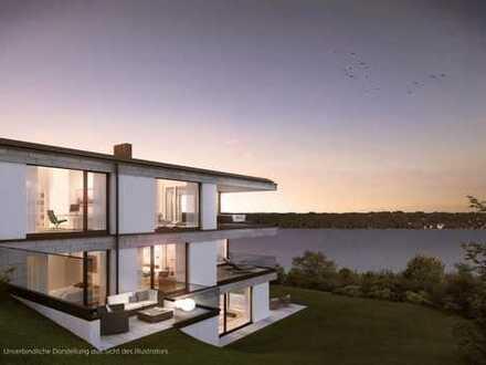 Wohnen auf einer eigenen Etage: Grozügige Gartenwohnung mit Seeblick