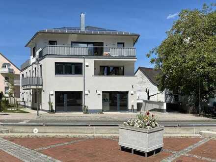 Neubau, Erstbezug, Laden-/Büro-/Gewerbefläche, Schaufenster, 4 TG-Plätze