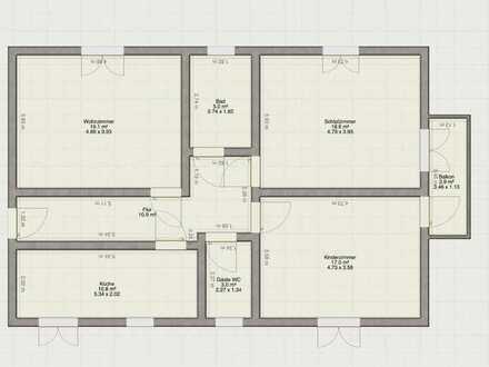 Gepflegte Wohnung mit drei Zimmern sowie Balkon und Einbauküche in Queidersbach