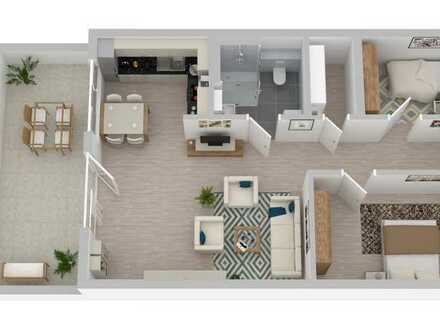 Hochwertige 3-Zi-Senioren-Neubauwohnung, barrierearm im Energiesparhaus nach Standard KfW 40+