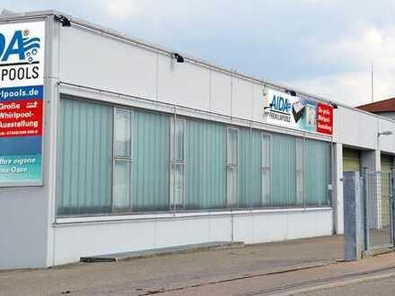 750m² Gewerbefläche für Produktion, Lager, Versand, Ausstellung an A7/B29