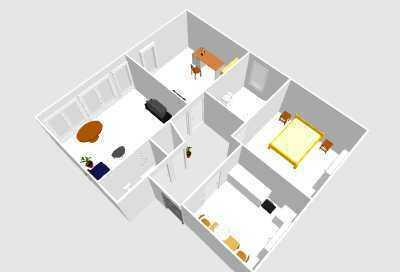 Vollständig renovierte Wohnung mit drei Zimmern und Treppenlift