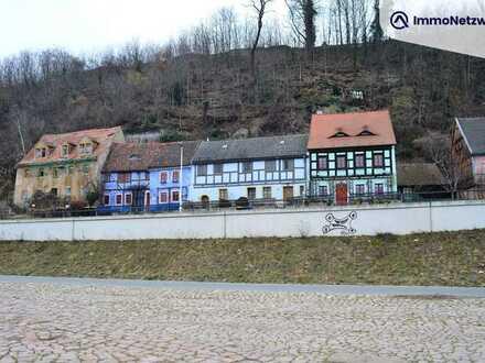Malerisch gelegenes Grundstück an der Elbe mit baufälligem denkmalgeschütztem Haus