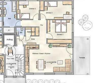 Exklusive, neuwertige 4-Zimmer-Erdgeschosswohnung mit Terrasse in Obertshausen-Hausen